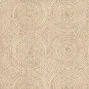 Vervain Crop Art Circles Walnut Fabric