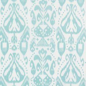 Schumacher Kiva Embroidered Ikat Sky Fabric