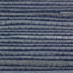 Astek ED163 Grasscloth Blue Jute Wallpaper