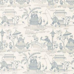 Schumacher Bassano Embroidered Toile Delft 66600 Fabric