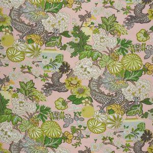 173280 CHIANG MAI DRAGON Blush Schumacher Fabric