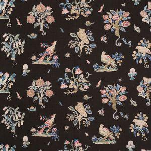 176750 MAGICAL MENAGERIE Black Schumacher Fabric