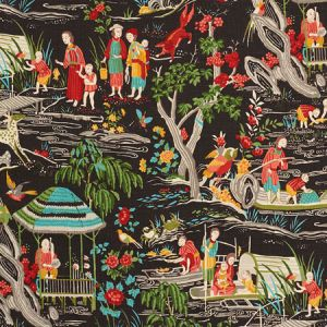 176771 YANGTZE RIVER Onyx Schumacher Fabric
