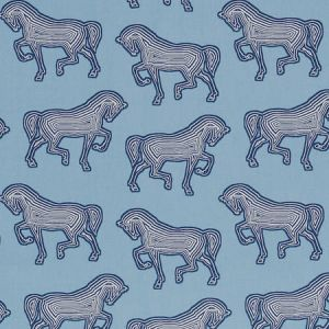 178011 FAUBOURG Blue Schumacher Fabric