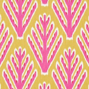 178560 BODHI TREE Yellow Pink Schumacher Fabric