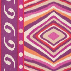 178581 TERENCE IKAT Magenta Schumacher Fabric