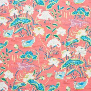179041 LOTUS GARDEN Red Schumacher Fabric