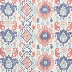179052 ELIZIA IKAT Rose Indigo Schumacher Fabric