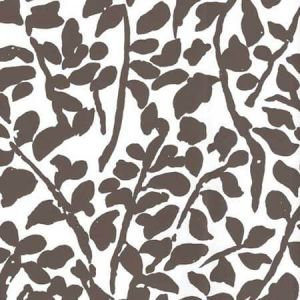 2030-05WP ARBRE DE MATISSE Brown On Off White Quadrille Wallpaper