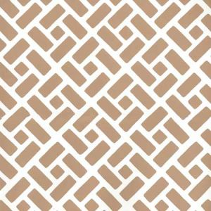 2220-04WP EDO Camel Ii On Almost White Quadrille Wallpaper