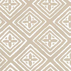 2490-40WP FIORENTINA Greige On Almost White Quadrille Wallpaper