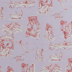 UPTOWN TOILE Lavande Rouge 03 Vervain Wallpaper