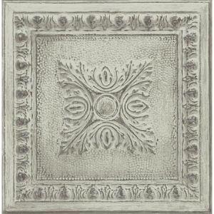 2922-24033 Hillman Ornamental Tin Tile Light Green Brewster Wallpaper