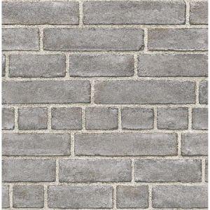 2922-24050 Façade Brick Grey Brewster Wallpaper