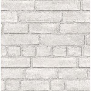 2922-24051 Façade Brick Off White Brewster Wallpaper