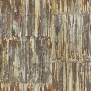 2922-24063 Patina Brass Faux Metal Panels Brewster Wallpaper