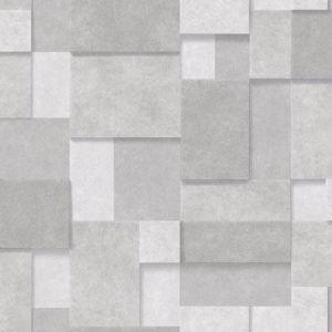 2922-25353 Duchamp Metallic Squares Silver Brewster Wallpaper