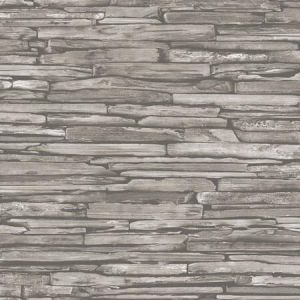 2922-25370 McGuire Stacked Slate Taupe Brewster Wallpaper