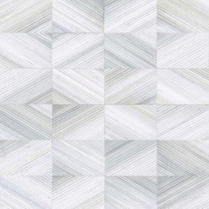 2922-25376 Stratum Geometric Wood Light Blue Brewster Wallpaper