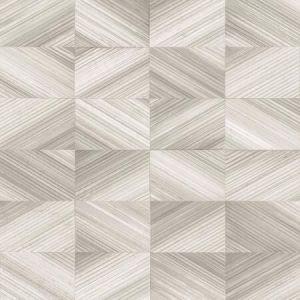 2922-25377 Stratum Geometric Wood Taupe Brewster Wallpaper