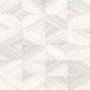 2922-25378 Stratum Geometric Wood White Brewster Wallpaper