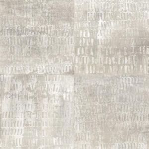 2922-25382 Conundrum Faux Metal Silver Brewster Wallpaper