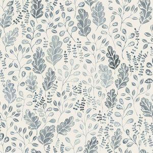 2948-27013 Isha Leaf Blue Brewster Wallpaper