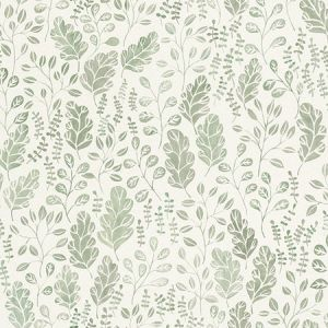 2948-27014 Isha Leaf Green Brewster Wallpaper