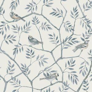 2948-27016 Crossbill Branches Light Blue Brewster Wallpaper