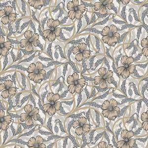 2948-28025 Imogen Floral Neutral Brewster Wallpaper
