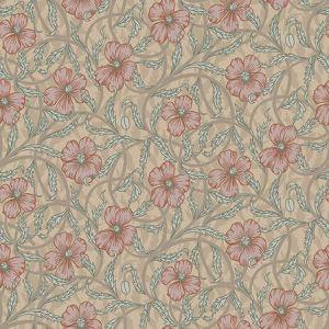 2948-28026 Imogen Floral Light Brown Brewster Wallpaper