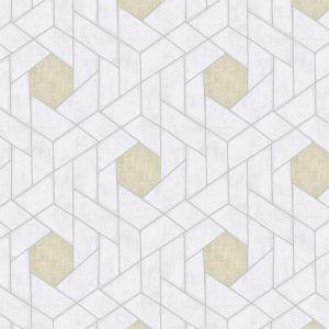 2964-25901 Granada Geometric Silver Brewster Wallpaper