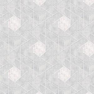 2964-25902 Granada Geometric Light Grey Brewster Wallpaper