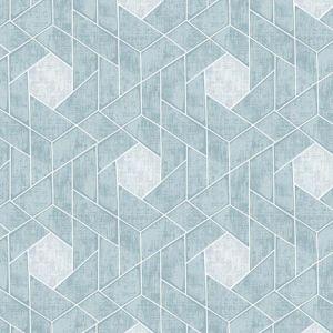 2964-25904 Granada Geometric Aqua Brewster Wallpaper