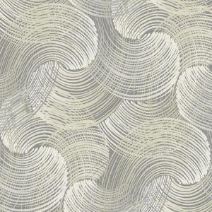 2964-25906 Karson Swirling Geometric Grey Brewster Wallpaper