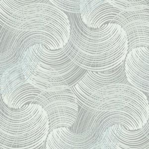 2964-25909 Karson Swirling Geometric Teal Brewster Wallpaper