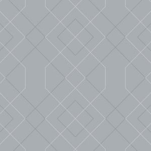2964-25910 Ballard Geometric Pewter Brewster Wallpaper