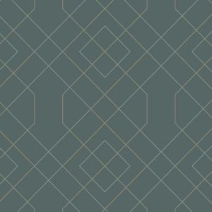 2964-25911 Ballard Geometric Teal Brewster Wallpaper