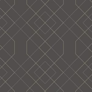 2964-25912 Ballard Geometric Grey Brewster Wallpaper