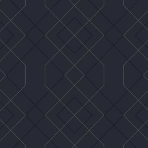 2964-25913 Ballard Geometric Indigo Brewster Wallpaper