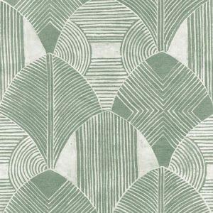 2964-25932 Westport Geometric Green Brewster Wallpaper