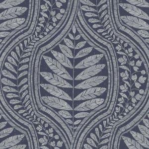 2964-25953 Juno Ogee Indigo Brewster Wallpaper