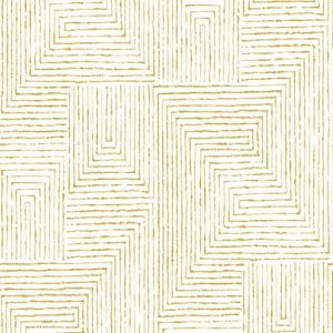 2964-25957 Merritt Geometric Honey Brewster Wallpaper