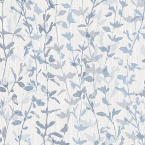 2964-25966 Thea Floral Trail Blue Brewster Wallpaper