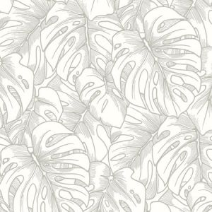2964-87344 Balboa Botanical Silver Brewster Wallpaper