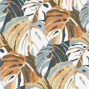2969-26011 Samara Monstera Leaf Orange Brewster Wallpaper