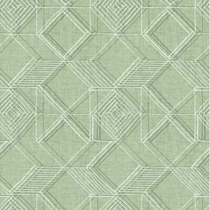 2969-26020 Moki Lattice Geometric Green Brewster Wallpaper