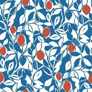 2969-26024 Loretto Citrus Blue Brewster Wallpaper