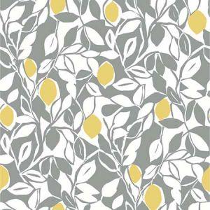 2969-26025 Loretto Citrus Grey Brewster Wallpaper