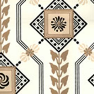 302400W VANDERPOEL STRIPE Black Sienna On Off White Quadrille Wallpaper